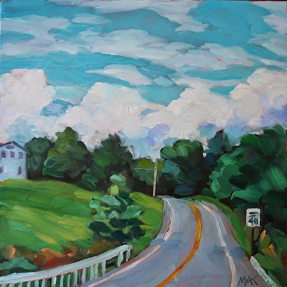 """Around the Bend"" original fine art by Mary Anne Cary"