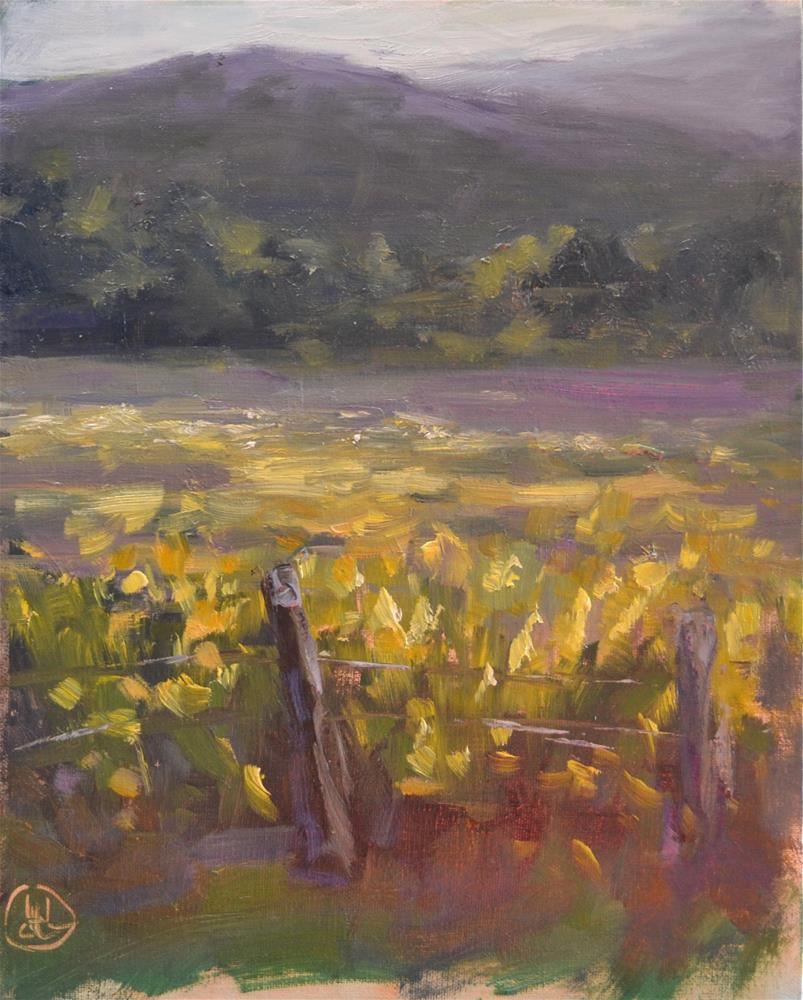 """fields of goldenrod"" original fine art by Dottie  T  Leatherwood"