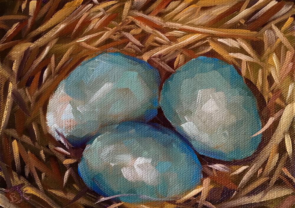 """EggCetera"" original fine art by Bobbie Cook"