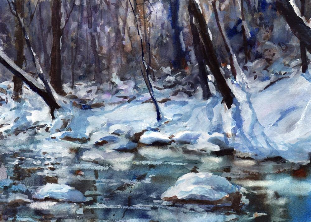 """Stony Creek"" original fine art by Linda Henry"