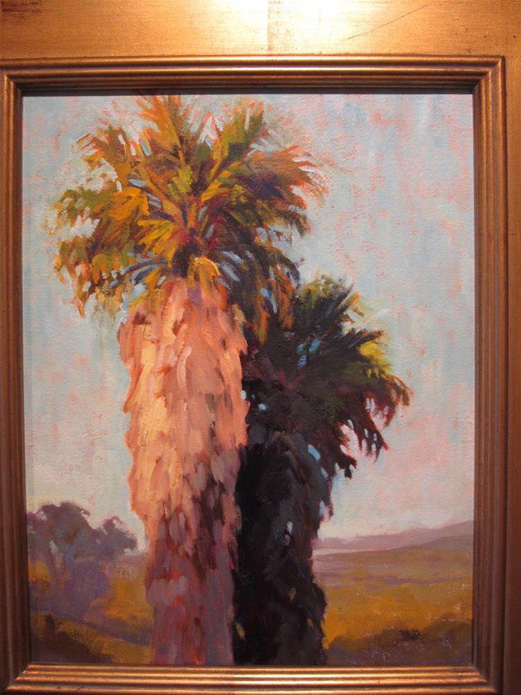"""Sun and Shadow Palms"" original fine art by Leigh Alexandra Sparks"