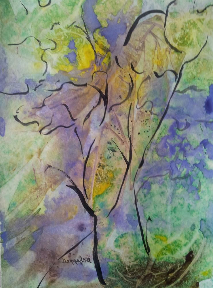 """Springing Up"" original fine art by Becky Chappell"