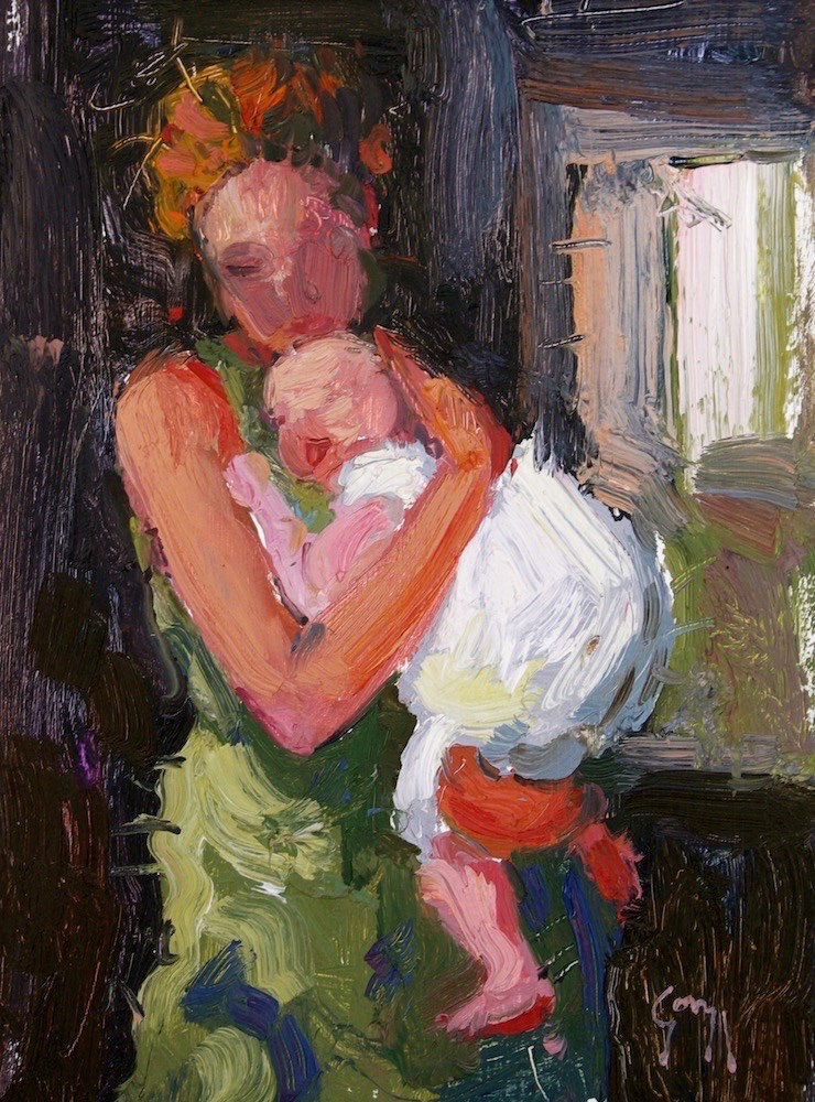 """Mother & Child"" original fine art by Doug Gorrell"