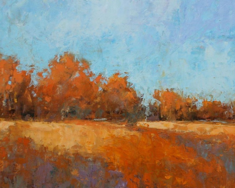 """Fall Fields II"" original fine art by Jane Robertson"