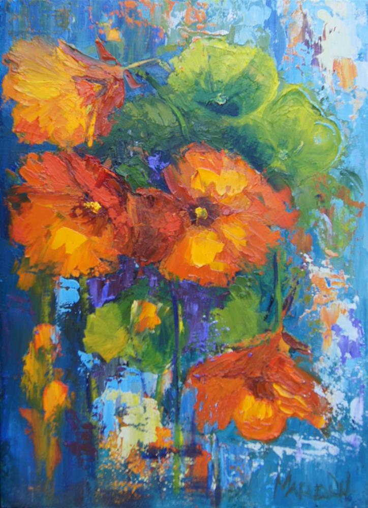 """Orange Combo"" original fine art by Marion Hedger"