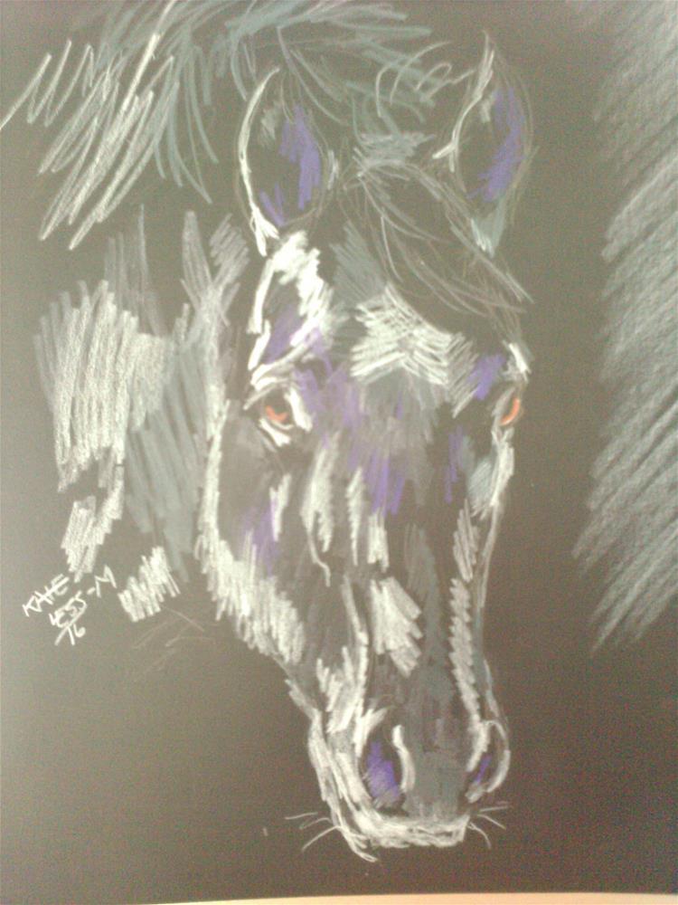 """Grey pencil study"" original fine art by Kate Less-Madsen"