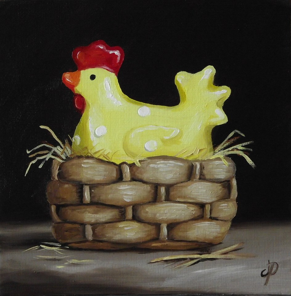 """Travelling Chicken visits N. Wales"" original fine art by Jane Palmer"