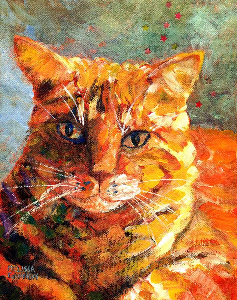 """Orange Tabby"" original fine art by Melissa Gannon"