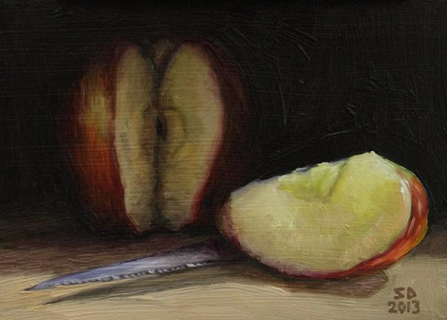 """""""Apple 130206"""" original fine art by Sue Deutscher"""