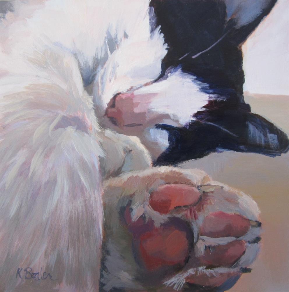 """Paws"" original fine art by Kaethe Bealer"