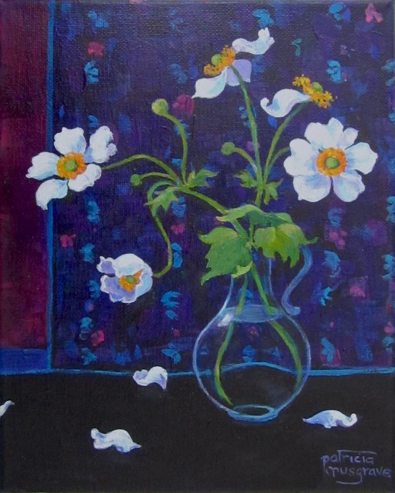 """Japanese Anemones "" original fine art by Patricia Musgrave"