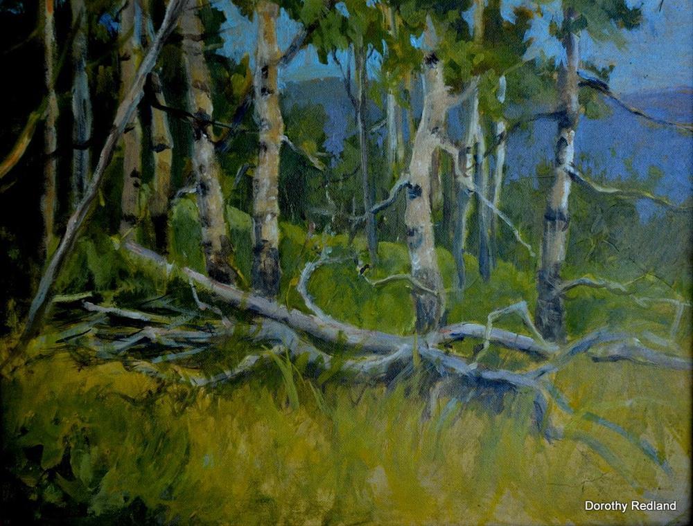 """Among the Aspen"" original fine art by Dorothy Redland"