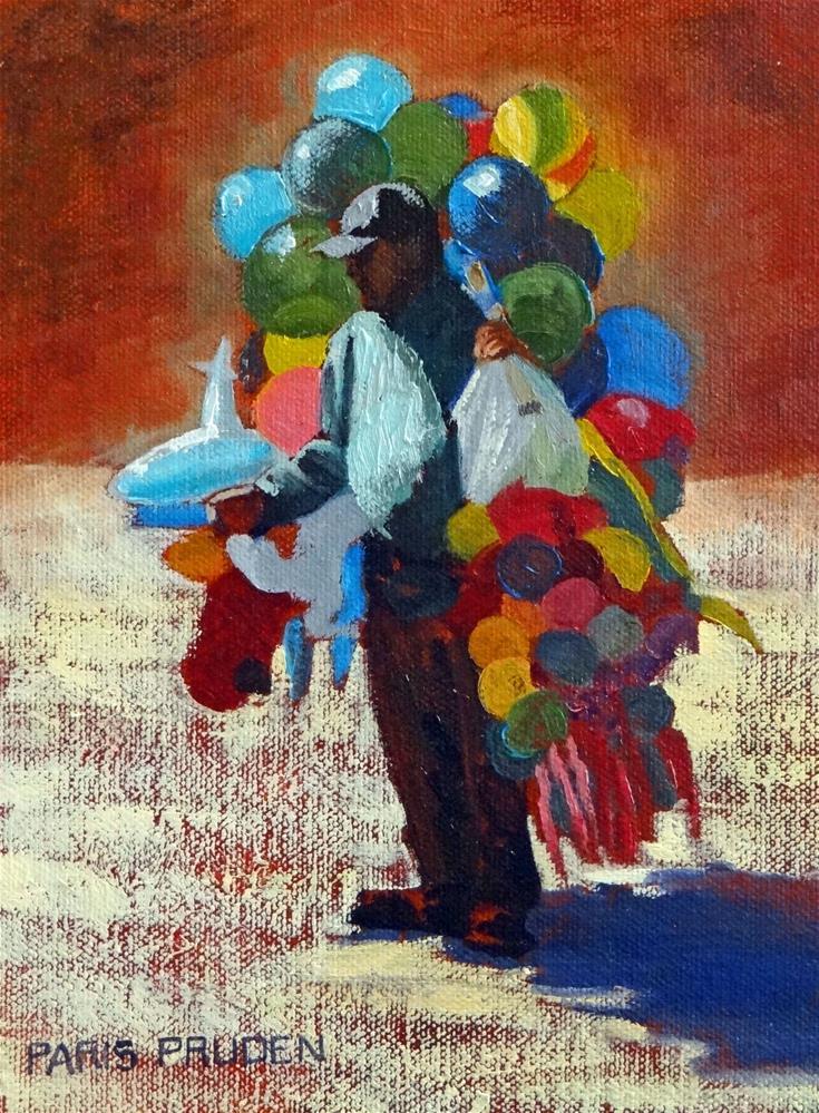 """The Balloon Seller"" original fine art by Nancy Paris Pruden"