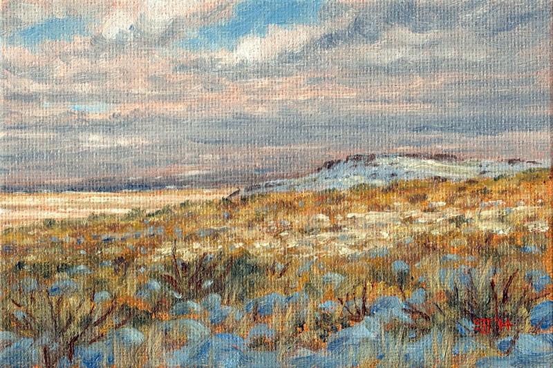 """C1584 December … High Desert (North Slope of Adams Butte … towards Steens Mtn.)"" original fine art by Steven Thor Johanneson"