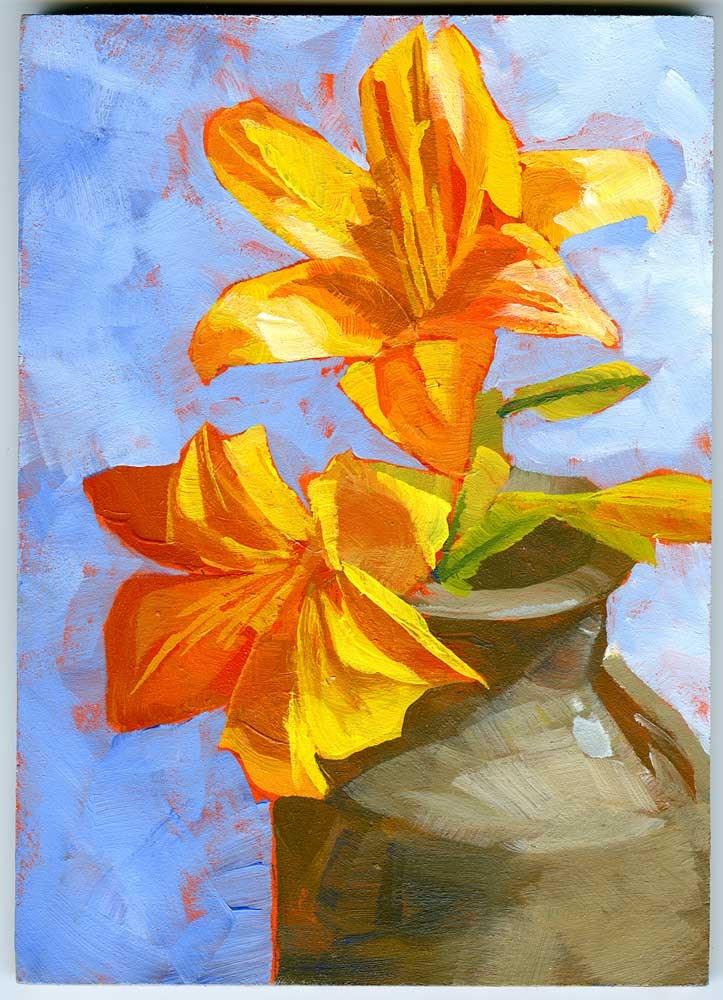 """Lillies"" original fine art by Eileen Hennemann"