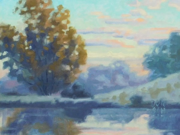 """Study for Morning reflection 2"" original fine art by Les Dorscheid"