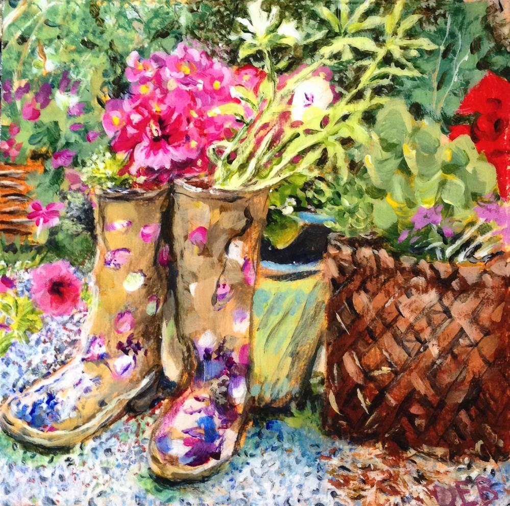 """Kickin' Garden"" original fine art by Debbie Yacenda"