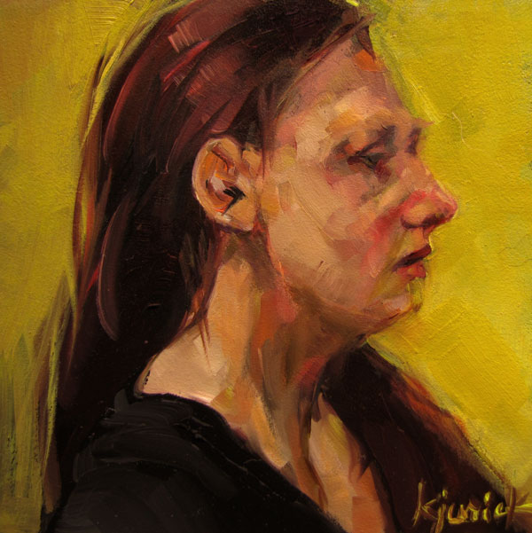 """100 Faces, No. 34"" original fine art by Karin Jurick"