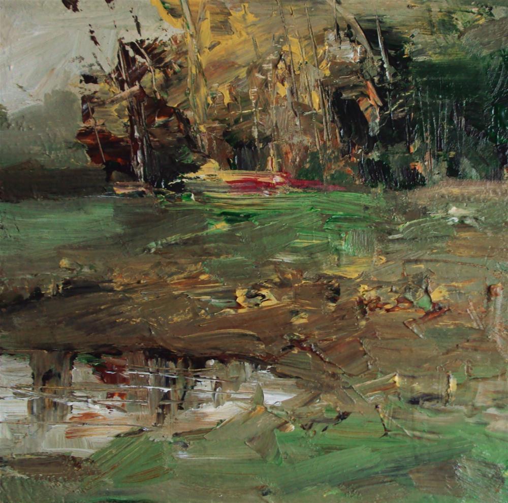 """""""autumn in the village"""" original fine art by Parastoo Ganjei"""