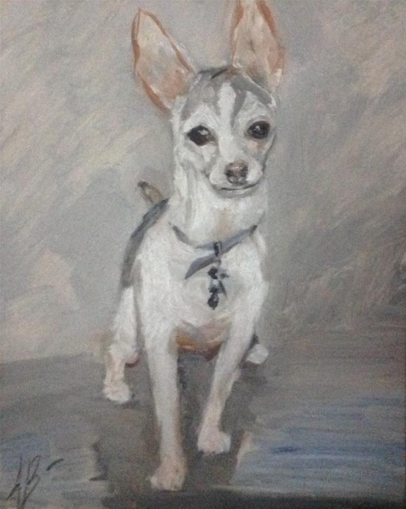 """Portrait of Little Bit"" original fine art by Annette Balesteri"