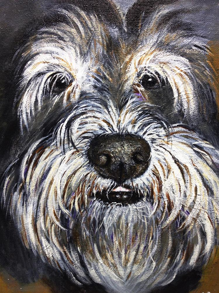 """Funny, Sweet, Playful Millie"" original fine art by Sun Sohovich"