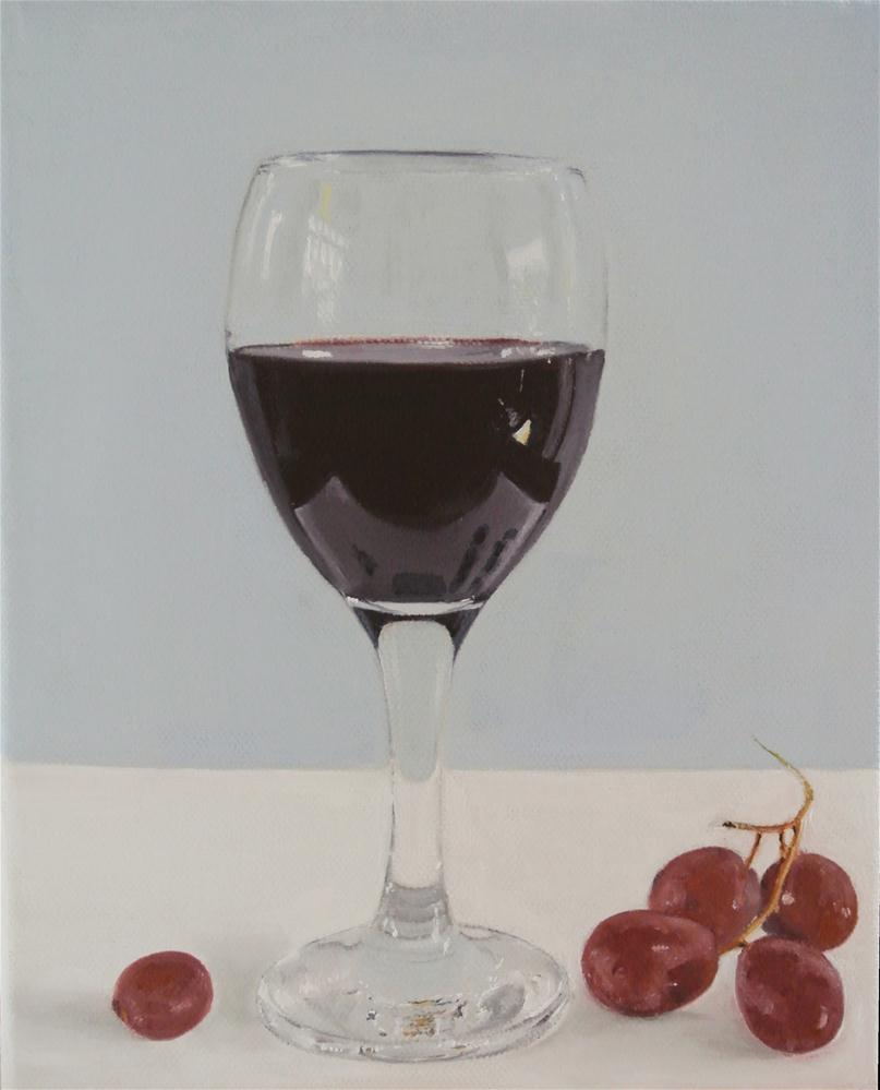 """Wine and Grapes 2"" original fine art by James Coates"
