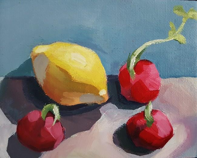 """Cornered Lemon"" original fine art by J M Needham"