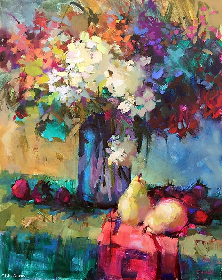 """So Many Flowers"" original fine art by Trisha Adams"