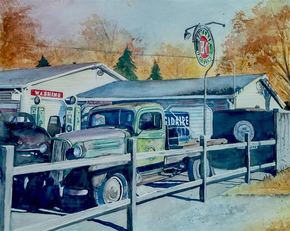 """Truck Stop"" original fine art by Sharleen Hargreaves"