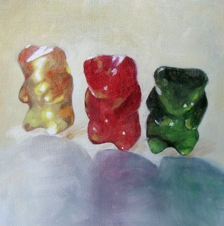 """Gummy Trio"" original fine art by Lauren Pretorius"