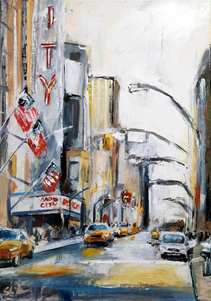 """1538 Radio City"" original fine art by Dietmar Stiller"
