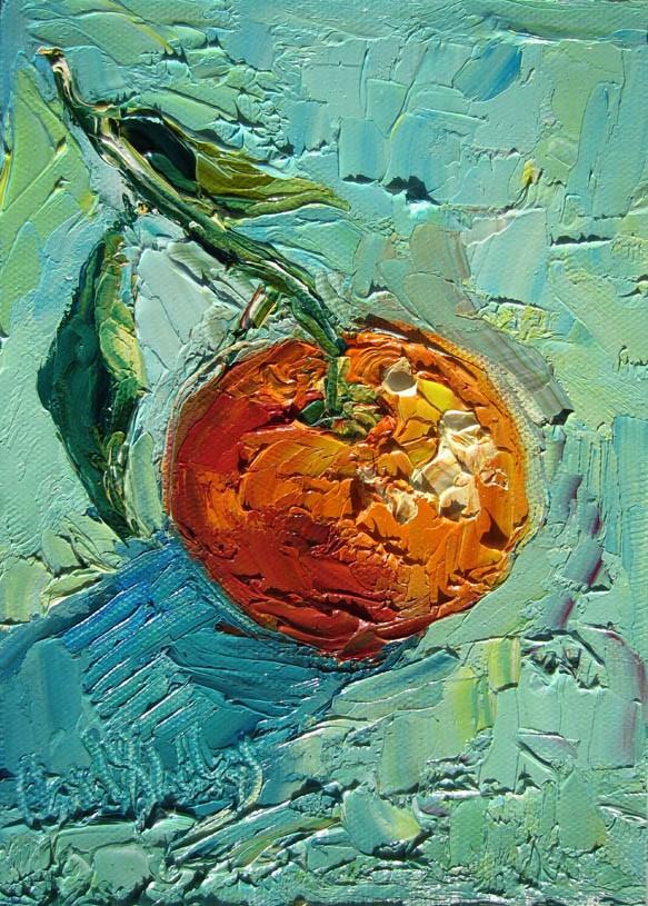 """Lone Satsuma"" original fine art by Carol Steinberg"