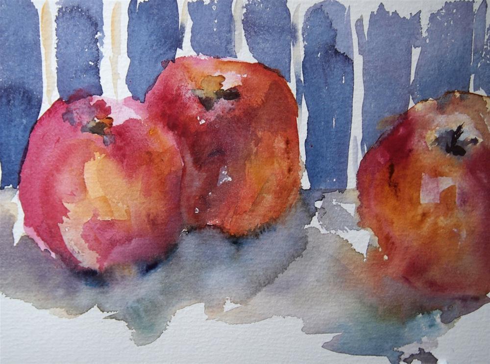 """Three Apples"" original fine art by Amy Bryce"