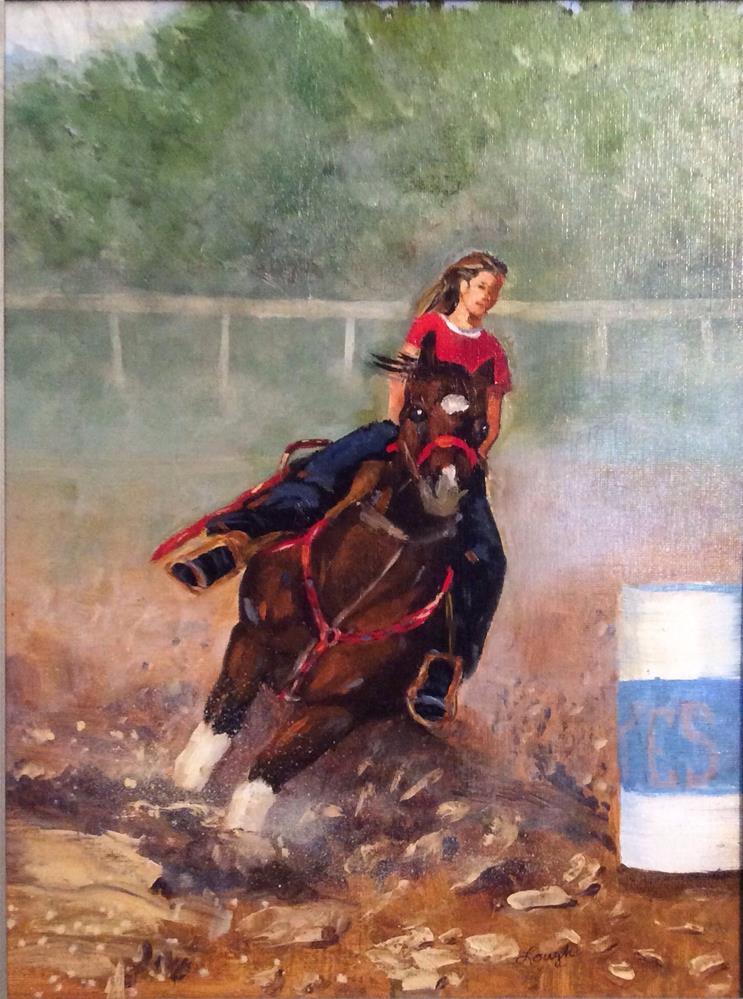 """""""In It To Win It"""" original fine art by Charlotte Lough"""