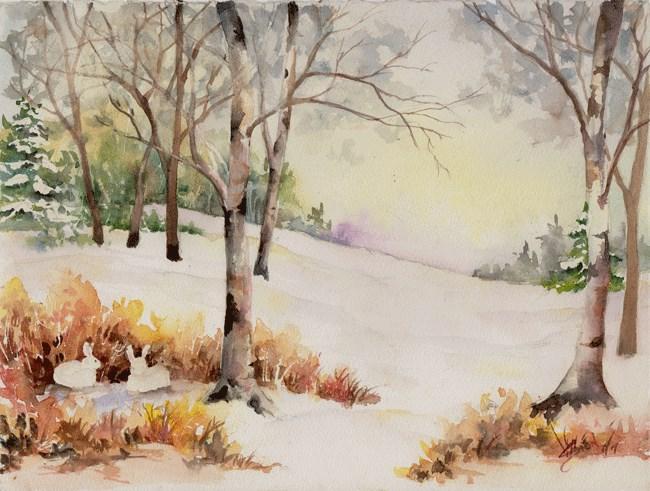 """The Bunny Hutch"" original fine art by Sue Dion"