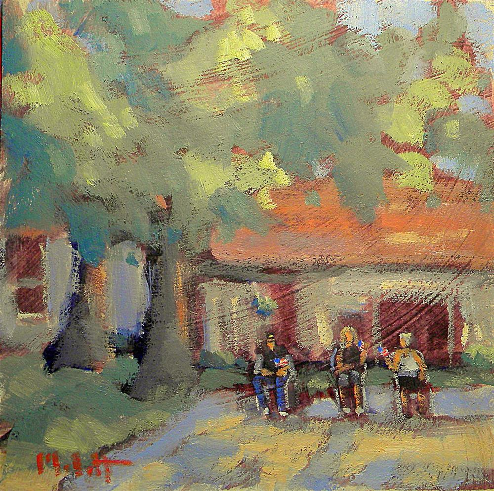 """Watching the Parade Contemporary Impressionism Oil Painting"" original fine art by Heidi Malott"