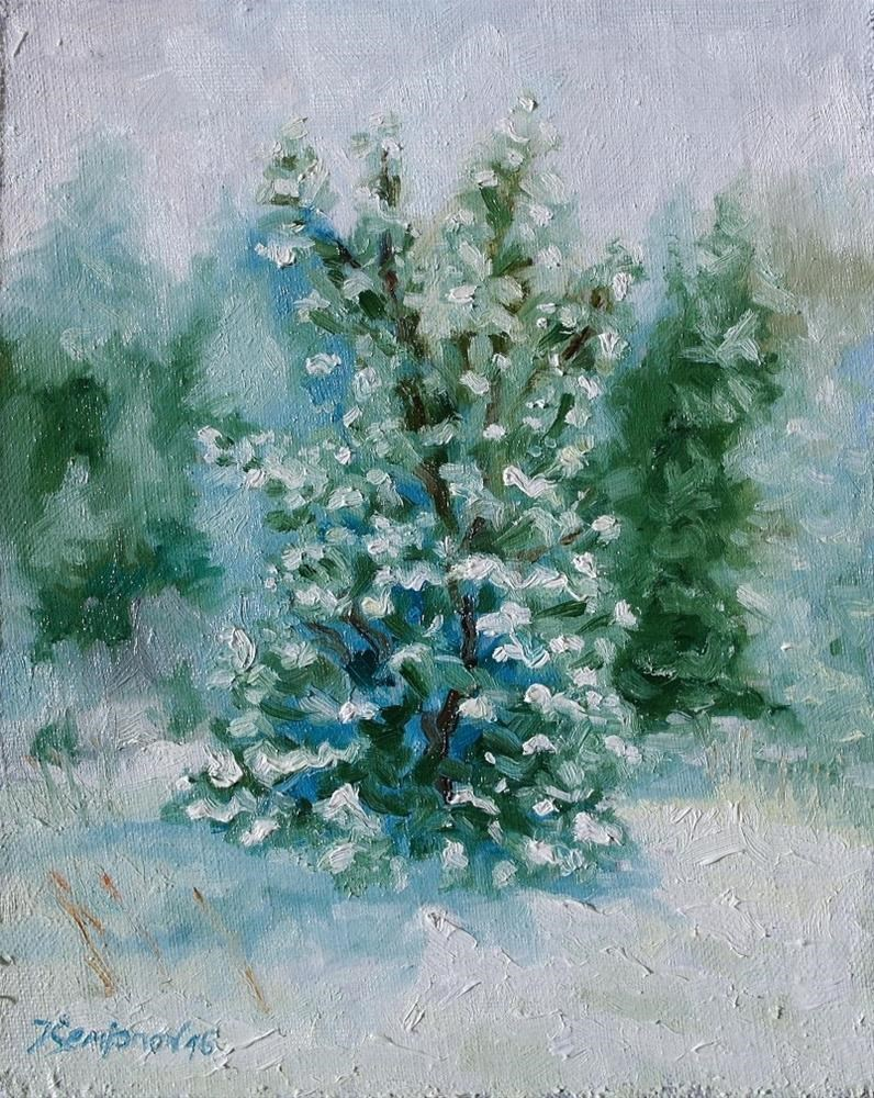 """winter tree"" original fine art by Yuriy Semyonov"
