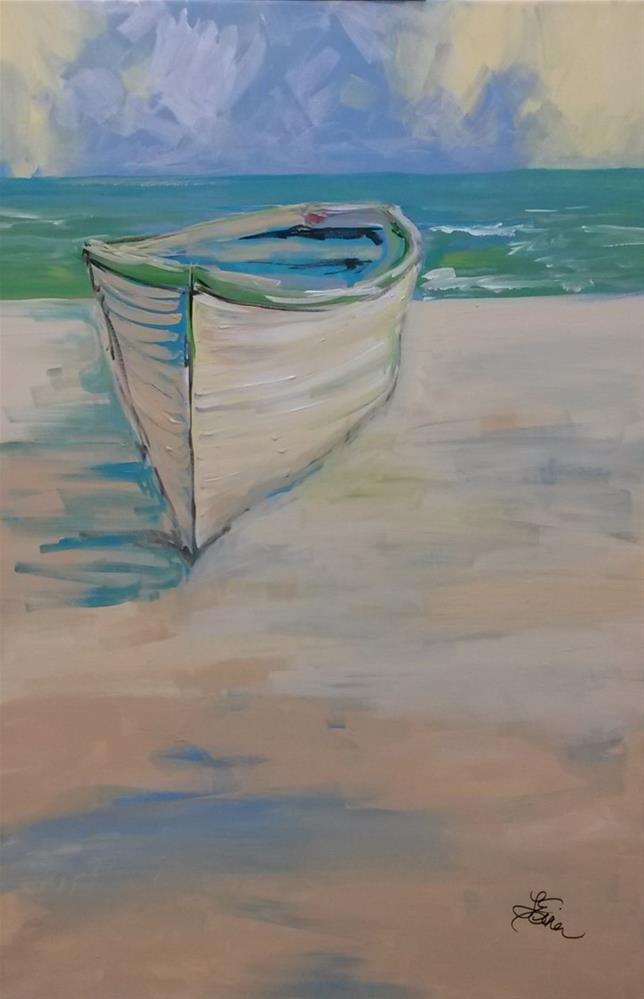 """""""Stranded"""" original fine art by Terri Einer"""