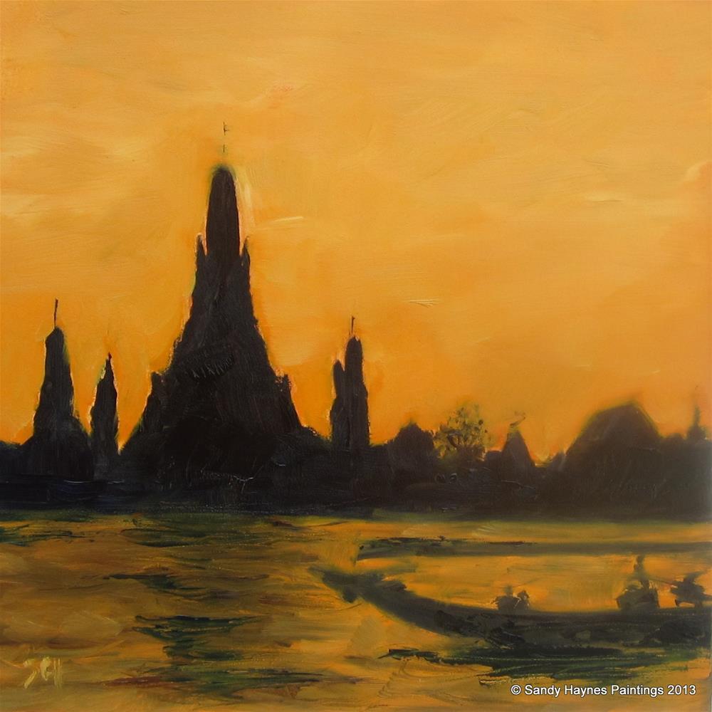 """""""Thailand ? #140"""" original fine art by Sandy Haynes"""