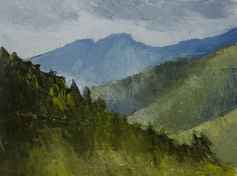 """Bosnian Mountains"" original fine art by Jethro Knight"
