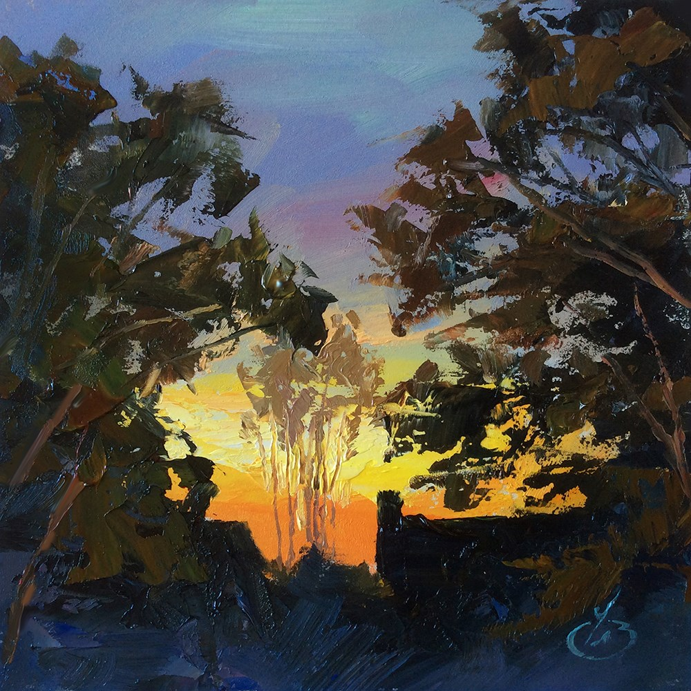 """SUNRISE"" original fine art by Tom Brown"