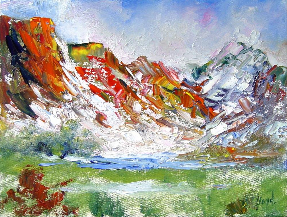 """Sun and Snow in Zion National Park"" original fine art by Diane Lloyd"