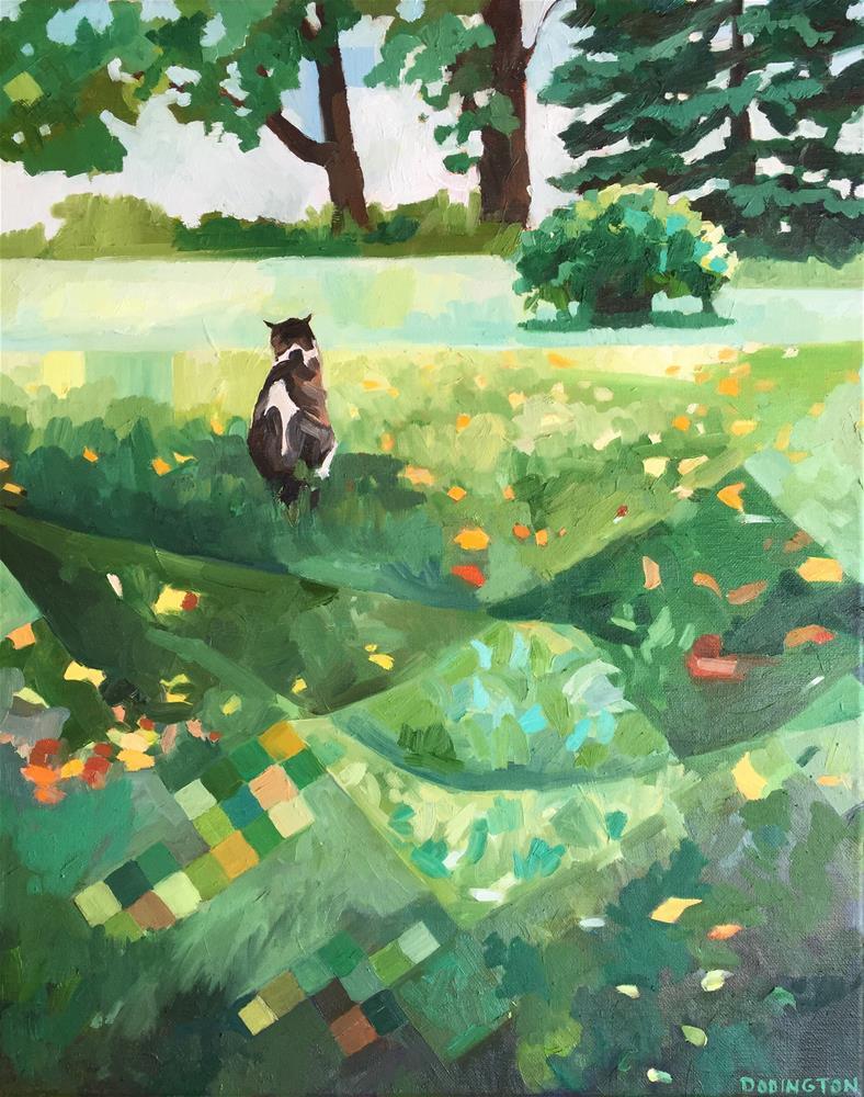 """""""Quilted Yard"""" original fine art by Jessie Dodington"""