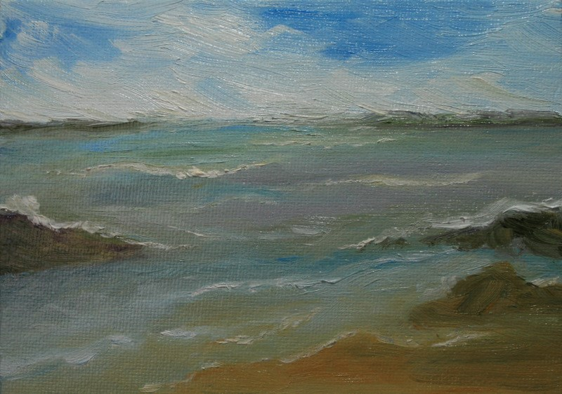 """Colors of the Sea"" original fine art by Jean Nelson"