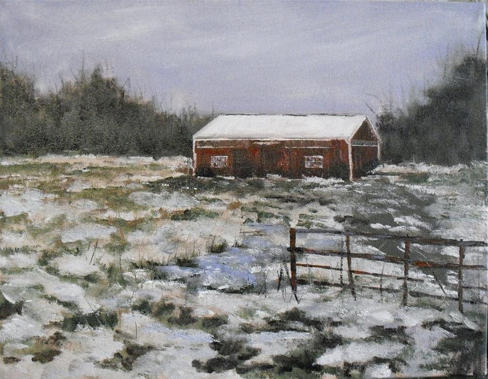 """Forgotten Barn ~ 14x18 ~ oil on canvas"" original fine art by Vincenza Harrity"