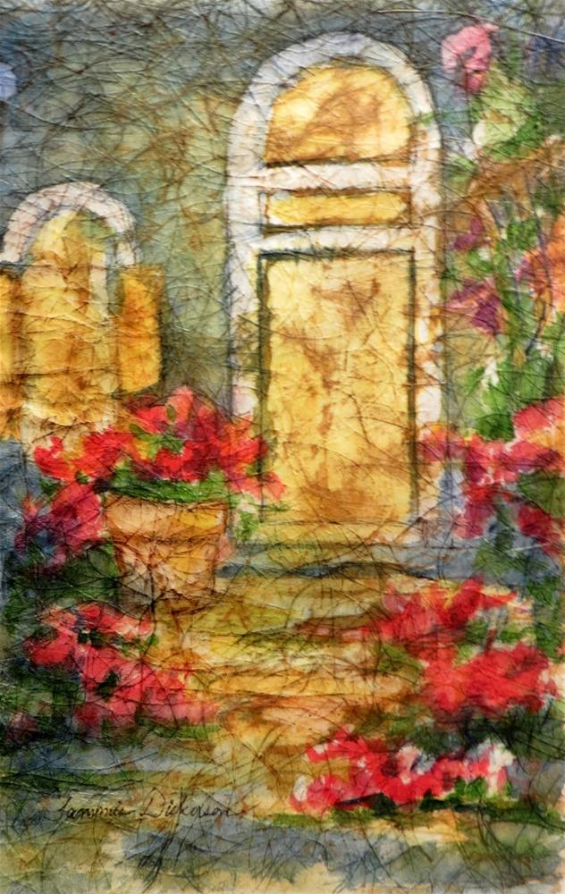 """Doorway in Batik"" original fine art by Tammie Dickerson"
