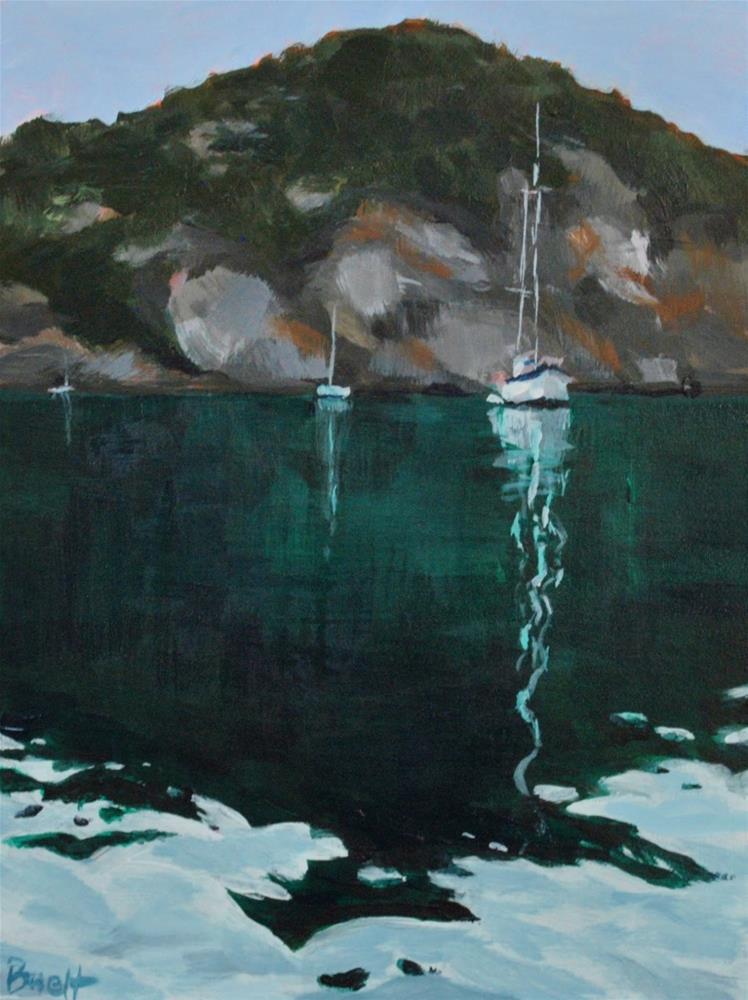 """Watmough Bay Anchorage"" original fine art by Shari Buelt"