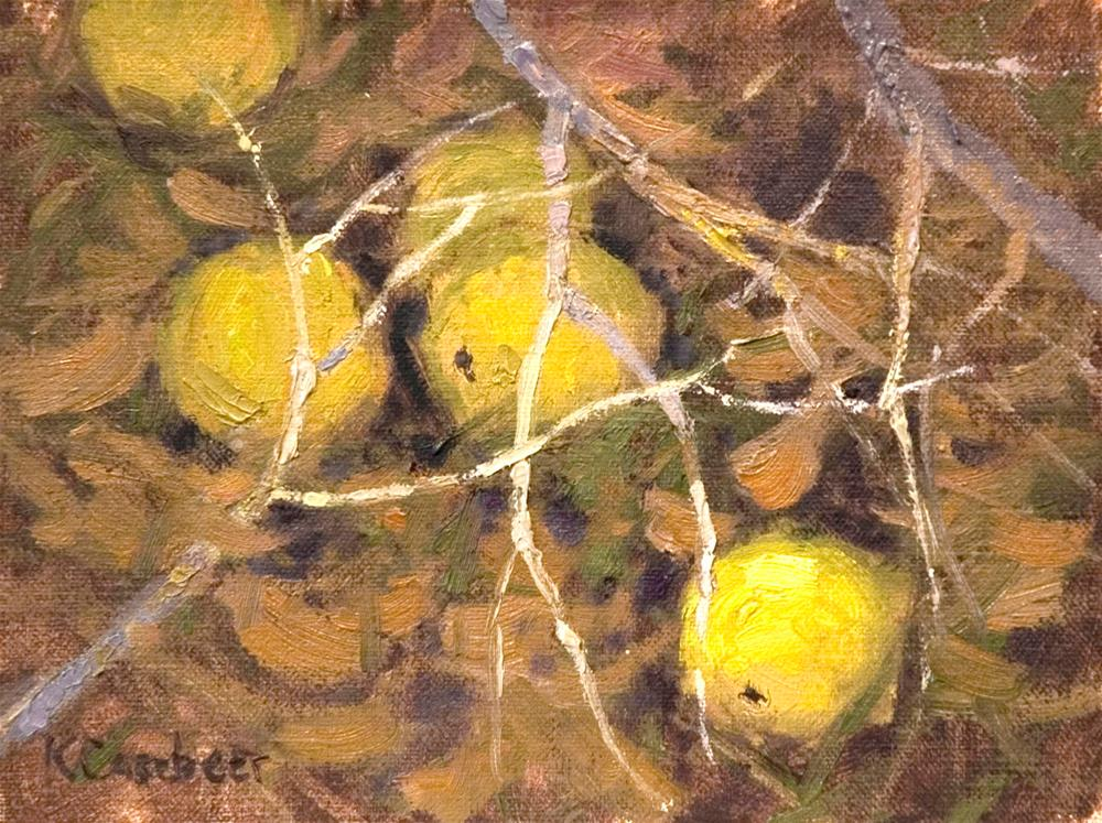 """Hedge Apples"" original fine art by Kim Casebeer"