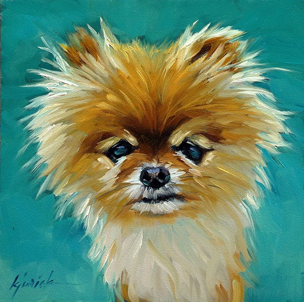 """Pomeranian"" original fine art by Karin Jurick"