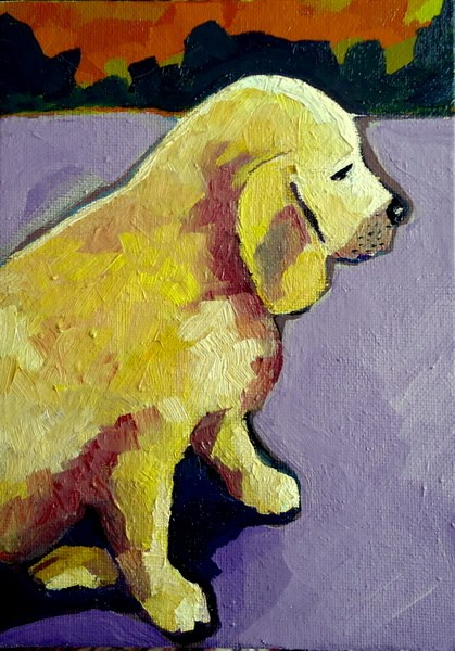 """Puppy"" original fine art by Laurie Mueller"
